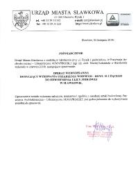 UM Sławków_operat wodnoprawny Jodłowa